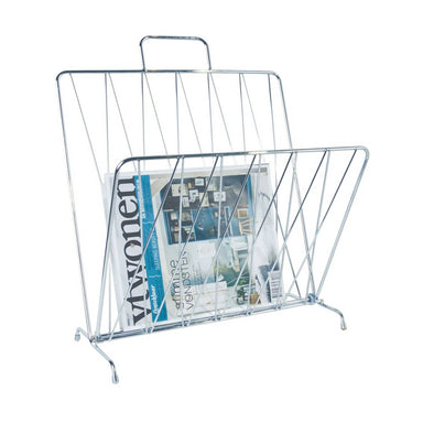 Present Time Diamond Magazine Rack - Chrome | Koop.co.nz