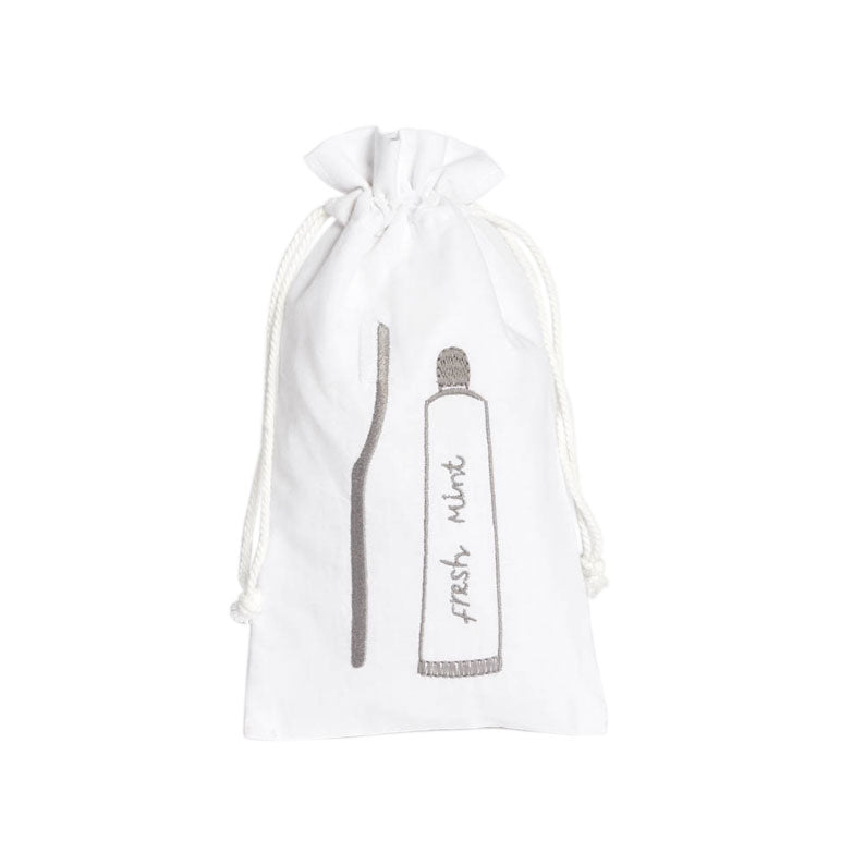 Nana Huchy Tooth Brush Bag - White | Koop.co.nz