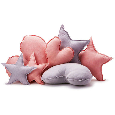 Nana Huchy Linen Heart Cushion - Pink (25cm) | Koop.co.nz