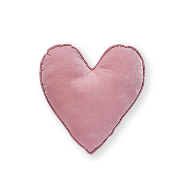 Nana Huchy Velvet Heart Cushion - Pink (25cm) | Koop.co.nz
