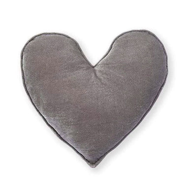 Nana Huchy Velvet Heart Cushion - Grey (40cm) | Koop.co.nz