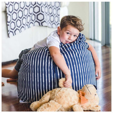 Cocoon Couture Kids Navy Stripe Bean Bag & Liner | Koop.co.nz