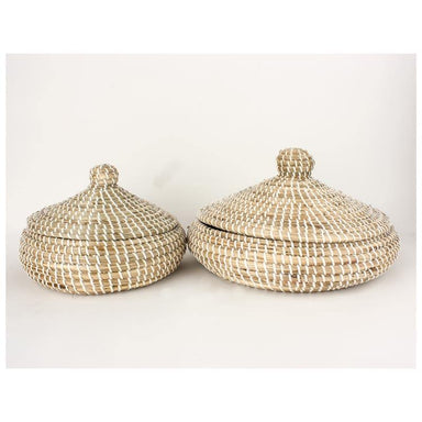 Rembrandt Fine Arts Lidded Seagrass Basket Set | Koop.co.nz