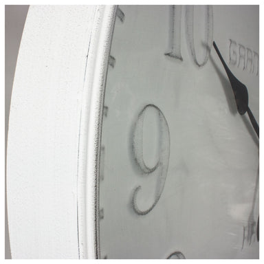 Rembrandt Fine Arts Large Grand Hotel White Metal Wall Clock (80cm) | Koop.co.nz