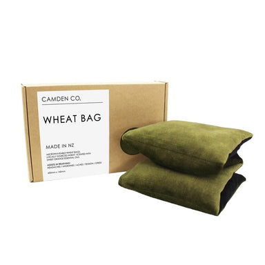 Camden Co. Wheat Bag – Velvet Olive | Koop.co.nz