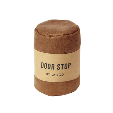 Mood Leather Look Door Stop - Brown | Koop.co.nz