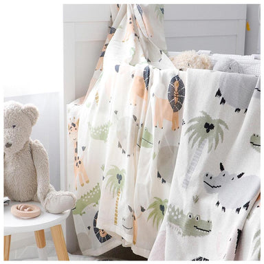 Di Lusso Living Jungle Safari Baby Muslin Swaddle | Koop.co.nz