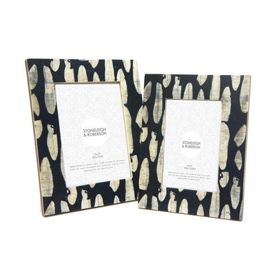 Stoneleigh & Roberson Spotted Bone Photo Frame – 4x6"