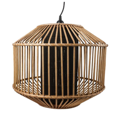 Stoneleigh & Roberson Large Black & Natural Meno Pendant Light | Koop.co.nz