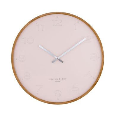 One Six Eight Freya Blush Wall Clock (35cm) | Koop.co.nz