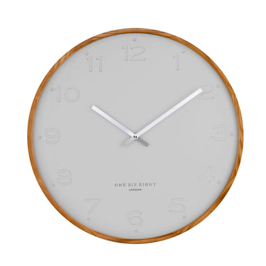 One Six Eight Freya Cool Grey Wall Clock (35cm) | Koop.co.nz
