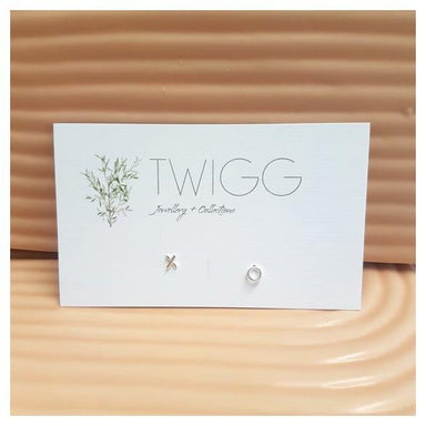 Twigg Little XO Silver Stud Earrings | Koop.co.nz