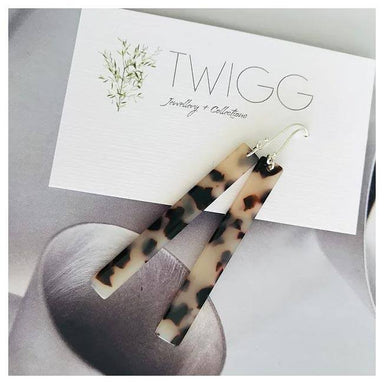 Twigg Light Tortoiseshell Rod Earrings | Koop.co.nz