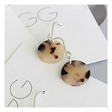 Twigg Light Tortoiseshell Disc Earrings | Koop.co.nz