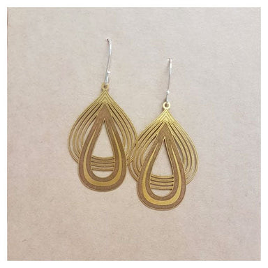 Twigg Satin Brass Teardrop Earrings | Koop.co.nz