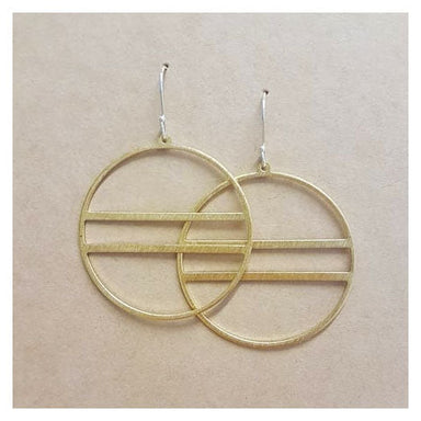Twigg Satin Brass Circle Earrings | Koop.co.nz