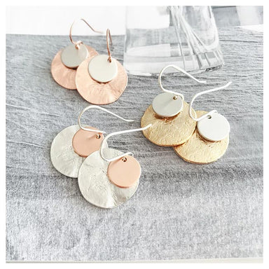 Twigg Flynn Double Disc Earrings - Gold | Koop.co.nz