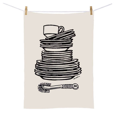 100% New Zealand Dick Frizzell Tea Towel - Dishes | Koop.co.nz