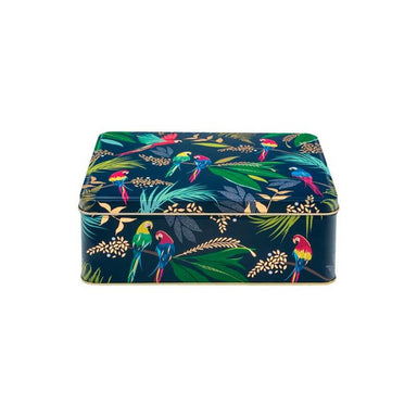 Sarah Miller Rectangle Parrots Tin | Koop.co.nz
