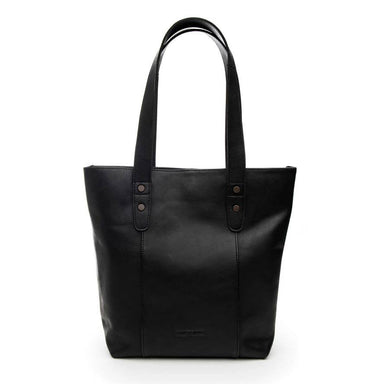 Stitch & Hide Leather Isabelle Tote Shoulder Bag - Black | Koop.co.nz