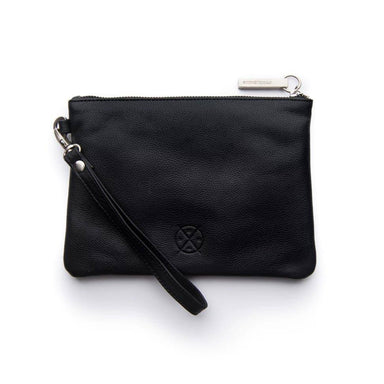 Stitch & Hide Leather Cassie Clutch - Black | Koop.co.nz