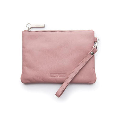 Stitch & Hide Leather Cassie Clutch - Dusty Rose | Koop.co.nz