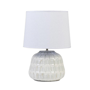 Linens & More Shell Lamp (43cm) | Koop.co.nz