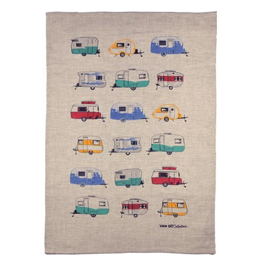 Van Go Collections Linen Coloured Caravan Tea Towel | Koop.co.nz