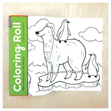 Mudpuppy Colouring Roll - Animals of the World (3 Meters) | Koop.co.nz