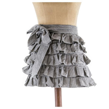 Raine & Humble Frilly Half Apron - Raven | Koop.co.nz