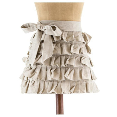 Raine & Humble Frilly Half Apron - Taupe | Koop.co.nz