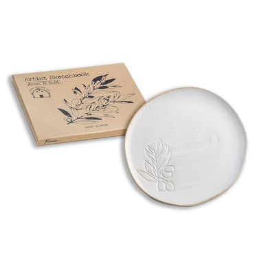 Rosanna Inc Farm to Table Debossed Plate - Olive | Koop.co.nz