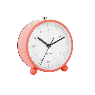 Karlsson Pellet Feet Alarm Clock with Light - Coral Pink | Koop.co.nz