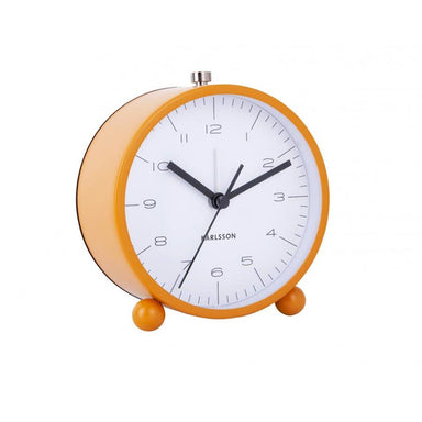 Karlsson Pellet Feet Alarm Clock with Light - Yellow | Koop.co.nz