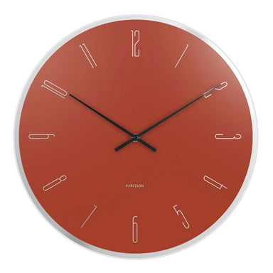 Karlsson Mirror Numbers Wall Clock - Clay Brown (40cm) | Koop.co.nz
