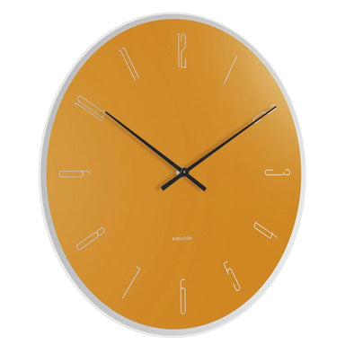 Karlsson Mirror Numbers Wall Clock - Ochre Yellow (40cm) | Koop.co.nz
