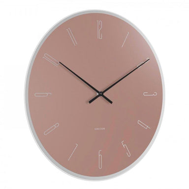 Karlsson Mirror Numbers Wall Clock - Pink (40cm) | Koop.co.nz