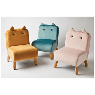 Jiggle & Giggle Velvet Animal Kids Chair – Mustard | Koop.co.nz