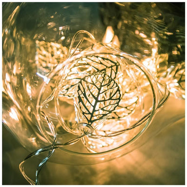 Stellar Haus Silver Leaves LED Fairy Lights (2m) | Koop.co.nz
