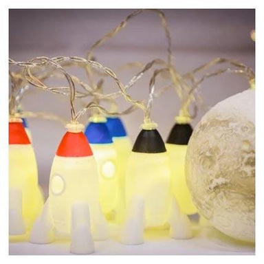 Stellar Haus Rockets & Moon LED String Lights | Koop.co.nz