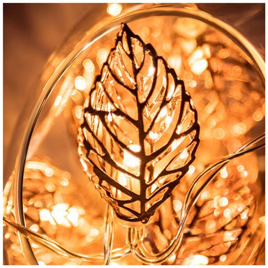 Stellar Haus Copper Leaves LED Fairy Lights (2m) | Koop.co.nz