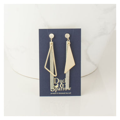 Duck & Sparrow Urban Detail Earrings - Gold/Grey | Koop.co.nz