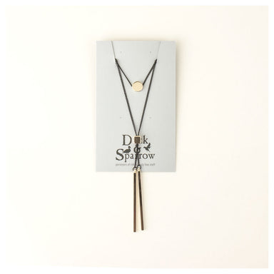 Duck & Sparrow Balance Double Strand Gold & Black Necklace | Koop.co.nz