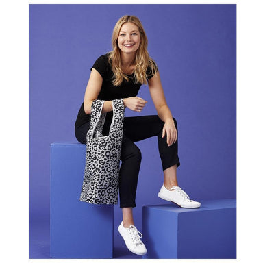 Ladelle Eco Recycled Foldable Tote Bag - Leopard | Koop.co.nz