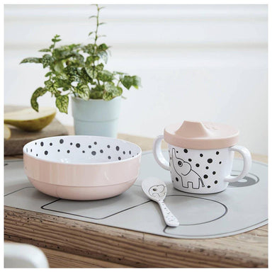 Done By Deer Happy Dots First Meal Set (3pc) - Powder | Koop.co.nz