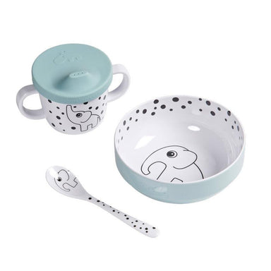 Done By Deer Happy Dots First Meal Set (3pc) - Blue | Koop.co.nz
