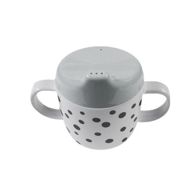 Done By Deer Happy Dots Spout Cup - Grey | Koop.co.nz