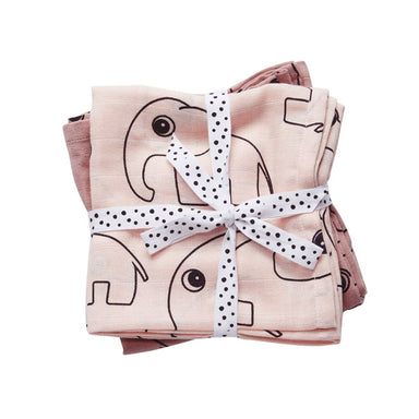 Done By Deer Contour Swaddle 2pk - Powder | Koop.co.nz