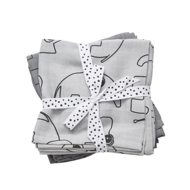 Done By Deer Contour Swaddle 2pk - Grey | Koop.co.nz
