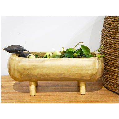 Stoneleigh & Roberson Oblong Cinch Wood Planter (48cm) | Koop.co.nz